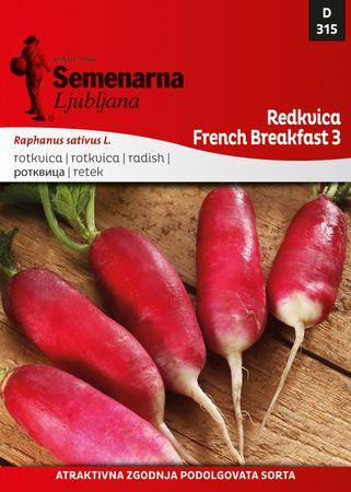 Semenarna Ljubljana redkvica French Breakfast 3, 315, mala vrečka