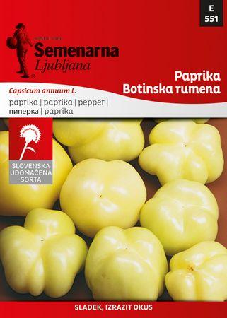 Semenarna Ljubljana paprika Botinska - rumena, 551, mala vrečka