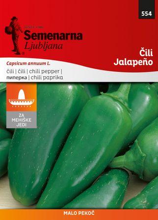 Semenarna Ljubljana čili Jalapeno, 554 Mehika, mala vrečka
