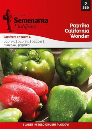 Semenarna Ljubljana Paprika California Wonder, 569, mala vrečica
