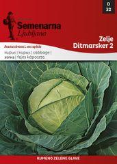 Semenarna Ljubljana zelje Ditmarsker 2, 32, mala vrečka