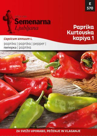 Semenarna Ljubljana paprika Kurtovska Kapiya 1, 569, mala vrečka