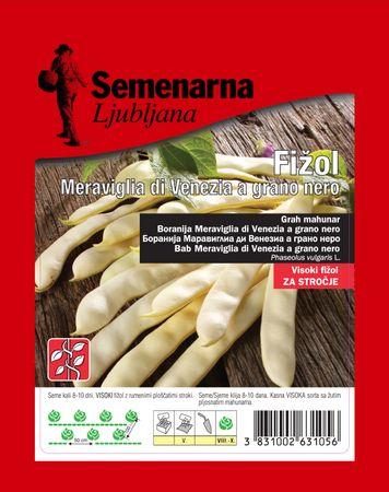 Semenarna Ljubljana fižol Meraviglia di Venezia a grano nero, 100 g