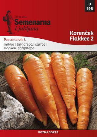 Semenarna Ljubljana korenček Flakkee 2, 198, mala vrečka
