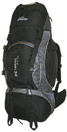 Doldy X Travel 60+10 Černá/šedá