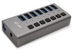 I-TEC USB 3.0 Charging HUB 7 port hálózati adapterrel 36 W U3CHARGEHUB7