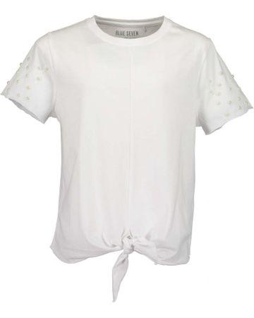Blue Seven dekliška majica z vozlom, 152, bela