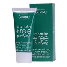 Ziaja Krem na noc delikatnie złuszczający Manuka Tree Purifying 50 ml