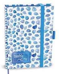 Zápisník motivační MOTY modrý