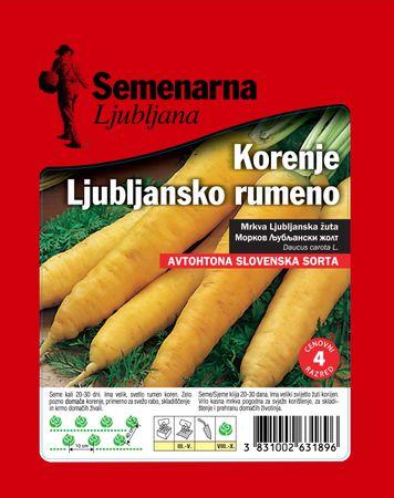 Semenarna Ljubljana Ljubljanska mrkva, žuta
