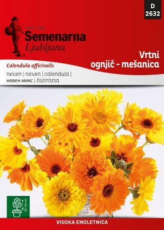 Semenarna Ljubljana vrtni ognjič - mešanica D2632, mala vrečka