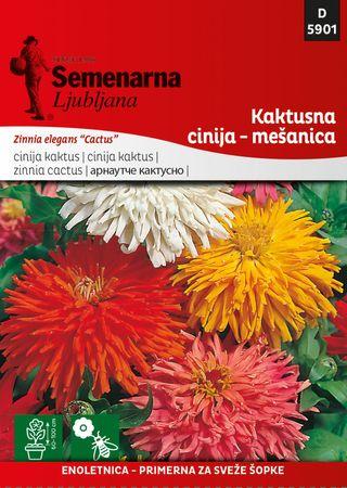 Semenarna Ljubljana cinija kaktusna - mešanica 5901, mala vrečka
