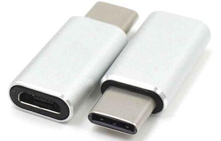 PremiumCord Adapter USB 3.1 Gen. 1 konnektor C/male - USB 2.0 Micro-B/female, ezüst