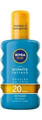 Nivea Neviditeľný sprej na opaľovanie SPF 20 Sun (Invisible Protection Transparent spray) 200 ml
