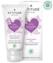 Attitude Cinket tartalmazó Baby leaves krém pelenkakiütés ellen, illat nélküli, 75 ml