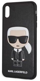 Karl Lagerfeld zaštita Ikonik TPU Case Black za iPhone XS Max KLHCI65IKPUBK, crna
