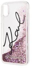 Karl Lagerfeld etui ochronne Signature TPU Case Glitter Star Pink przeznaczone dla iPhone XS Max KLHCI65TRKSIGPI
