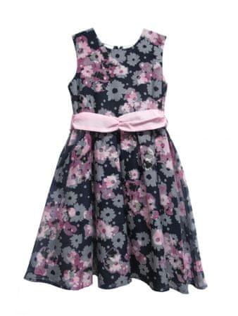 Blue Seven sukienka dziewczęca w kwiaty 92 czarna