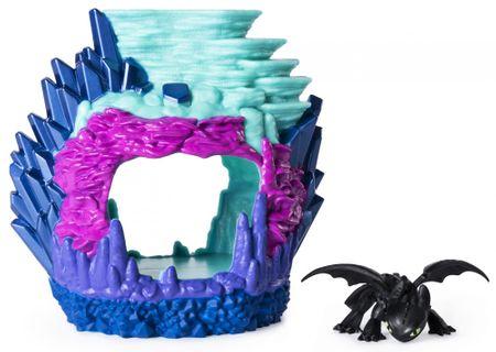 Spin Master Draci 3 Svítící dračí jeskyně s figurkou-Toothless