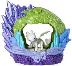 Spin Master Draci 3 Svítící dračí jeskyně s figurkou-Lightfury