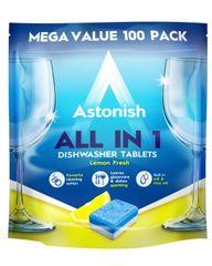 Astonish tablete za pomivalni stroj z vonjem limone, 100 kos