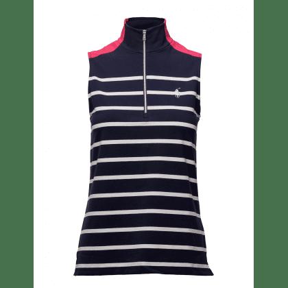 cb26ca3315 Ralph Lauren Sleeveless Zip Front Polo dámské golfové tričko Modrá L ...