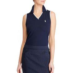 Ralph Lauren Sleeveless V-Neck Polo dámské golfové tričko
