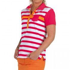 Girls Golf Never Give Up Halfarm Polo dámské tričko
