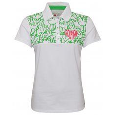 Girls Golf Golftime zelená Halfarm Polo dámské tričko