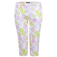 Girls Golf Daisy Flowers Capri dámské