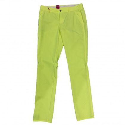 ALBERTO Alberto Alva Ecorepel žluté dámské kalhoty Žlutá 34