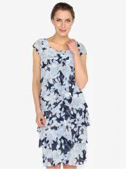 M&Co modré vzorované šaty s volány