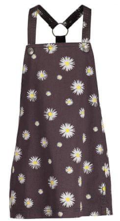Blue Seven dívčí květované šaty 104 hnedá