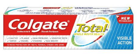 Colgate zobna pasta Total visible action
