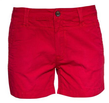 Pepe Jeans dámské kraťasy Balboa Short 26/34 červená