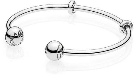 Pandora Naprawiono Srebrnybransoletka na zawieszkach 596477 (długość 16 cm) srebro 925/1000