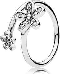 Pandora Romantični prstan marjetice 191038CZ srebro 925/1000