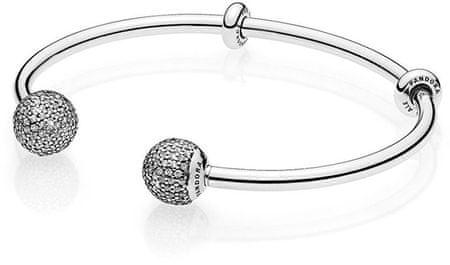 Pandora LuksusowySrebrnybransoletka 596438 CZ (długość 16 cm) srebro 925/1000