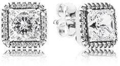 Pandora Káprázatos szögletes fülbevaló 290591CZ ezüst 925/1000