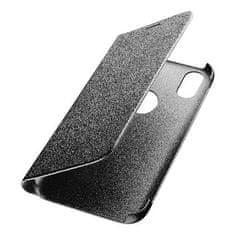 CellularLine torbica za Honor Play, preklopna, črna