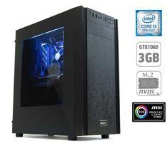 MEGA namizni računalnik 6000X i5-9400F/8GB/SSD250GB+1TB/GTX1060/FreeDOS (PC-G6943X-M)