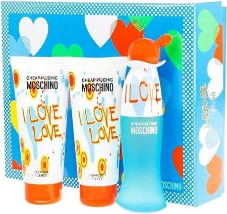 Moschino Cheap & Chic I Love Love - EDT 50 ml + testápoló 100 ml + tusfürdő 100 ml