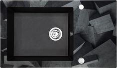 Deante granitno pomivalno korito s steklom Capella ZSC GB2C, grafitno sivo