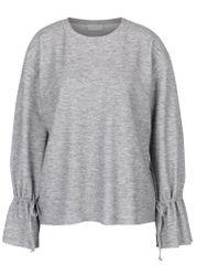 VILA šedý žíhaný lehký svetr se šňůrkami Ammie