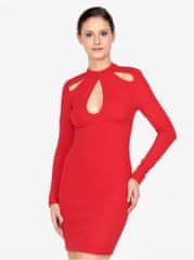 AX Paris červené šaty s průstřihy
