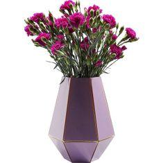 KARE Fialová skleněná váza art Pastel 26cm
