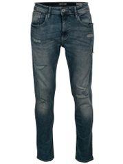 Blend modré pánské džíny s potrhaným efektem