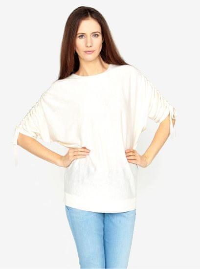 Vero Moda krémový volný svetr s rukávy na stahování Adriana XL