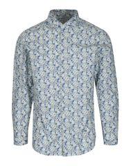 Selected Homme modro-bílá květovaná slim fit košile Do Nesel-Rio