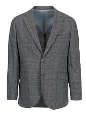 Hackett London šedé kostkované lněné sako